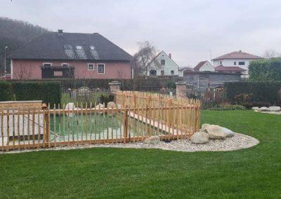 Holzzaun als ideale Kindersicherung