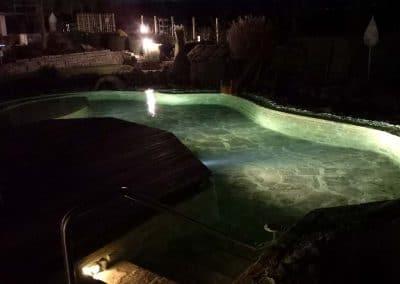 Unser Schaugarten in der Nacht