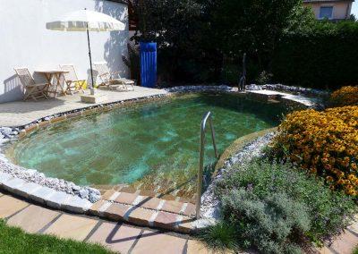 Naturstein im Pool