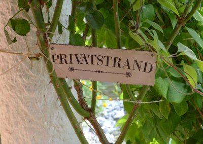 Eigener Privatstrand zu Hause