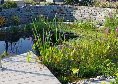 Kleiner Schwimmteich im Selbstbau