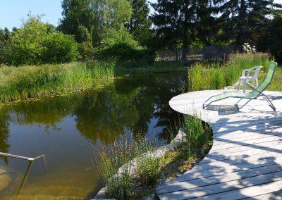 Steg zum Teich