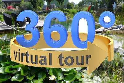 Virtueller Durchgang im Schaugarten
